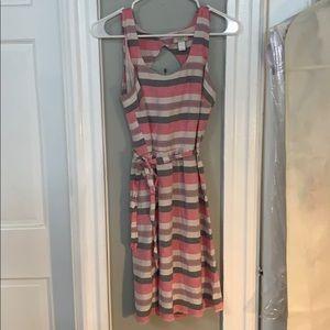 Linen belted dress from Loft